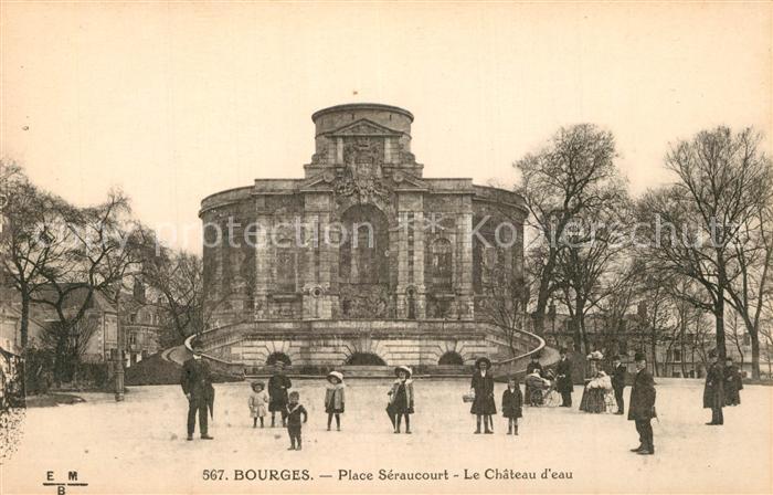 Bourges Place Seraucourt Chateau d eau Bourges