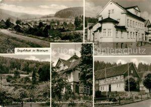 Engelsbach Ortsansicht Gasthaus Zum Paradies FDGB Ferienheime Dorfstrasse Engelsbach