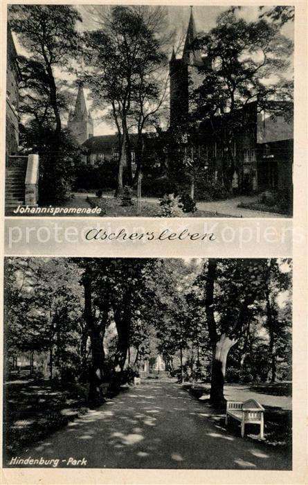 Aschersleben Johannispromenade Hindenburg Park Aschersleben