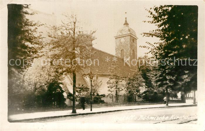 Neukoelln Boehmische Kirche Deutsch Boehmisch Rixdorf Dorfaue Neukoelln