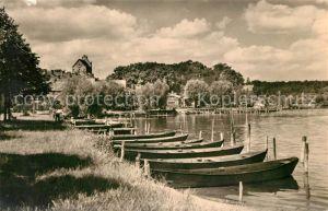 AK / Ansichtskarte Lychen Am Oberpfuhlsee Boote Lychen