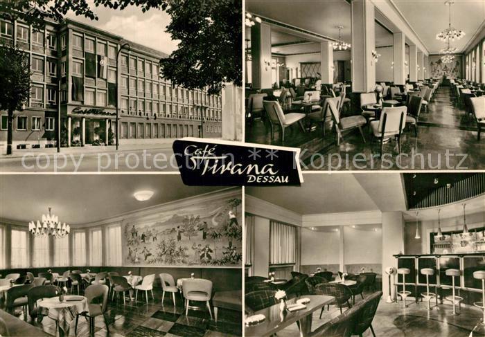AK / Ansichtskarte Dessau Rosslau Cafe Tirana Dessau Rosslau