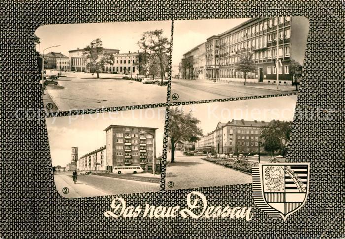 AK / Ansichtskarte Dessau Rosslau Hauptbahnhof August Bebel Strasse Cafe Tirana Dessau Rosslau