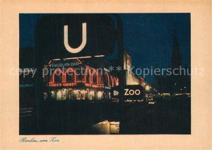 AK / Ansichtskarte Berlin Am Zoo Nachtaufnahme Berlin