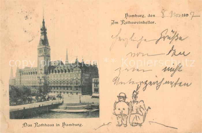 AK / Ansichtskarte Hamburg Rathaus Rathsweinkeller Hamburg