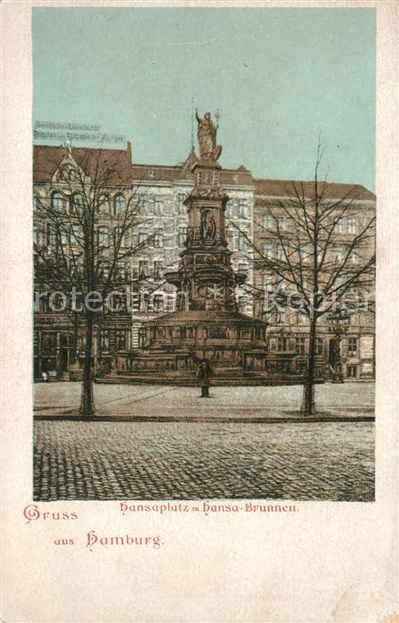 AK / Ansichtskarte Hamburg Hansaplatz mit Hansabrunnen Hamburg