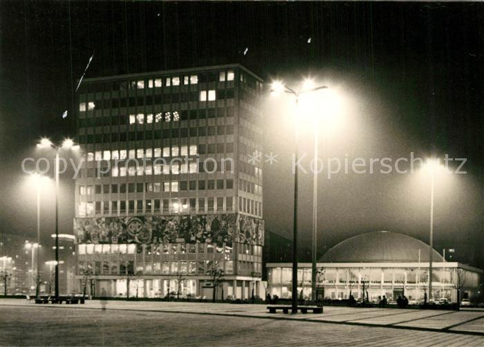 AK / Ansichtskarte Berlin Haus des Lehrers mit Kongre?halle bei Nacht Berlin