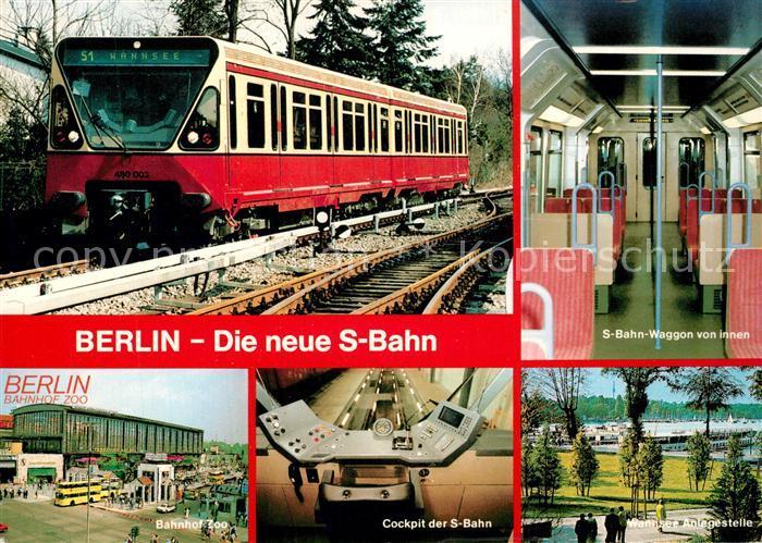 AK / Ansichtskarte Berlin S Bahn Bahnhof Zoo  Berlin