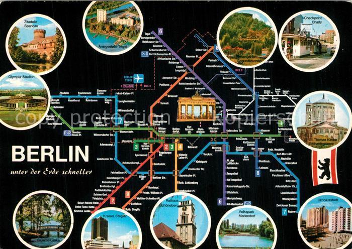 AK / Ansichtskarte Berlin U Bahnlinien Netz Berlin