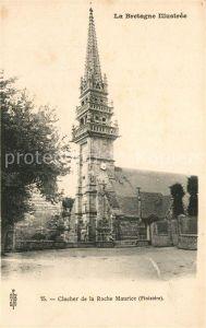 AK / Ansichtskarte La_Roche Maurice Clocher Eglise Saint Yves Glockenturm La_Roche Maurice