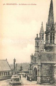 AK / Ansichtskarte Brasparts Le Calvaire et le Clocher Kalvarienberg Glockenturm Brasparts