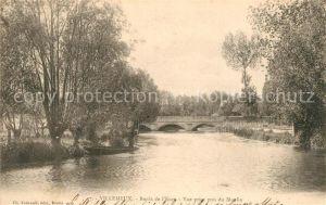 AK / Ansichtskarte Villemeux sur Eure Bords de la riviere vue prise pres du Moulin Villemeux sur Eure