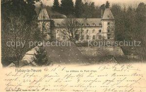 AK / Ansichtskarte Habay la Neuve Le Chateau du Pont d Oye Habay la Neuve