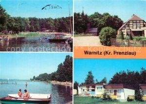 AK / Ansichtskarte Warnitz Freibad am Quast Ober?ckersee Bungalows Warnitz