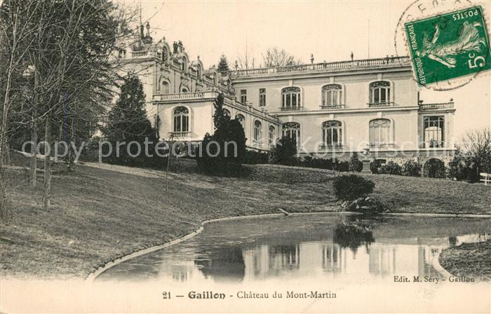 AK / Ansichtskarte Gaillon Chateau du Mont Martin Gaillon