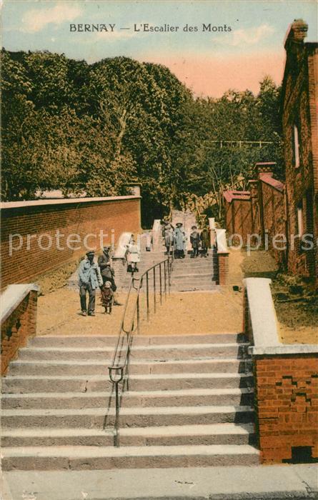 AK / Ansichtskarte Bernay Escalier des Monts Bernay