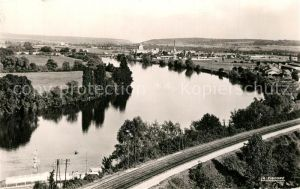 AK / Ansichtskarte Gaillon Les bords de la Seine vue de la Cote du Roule Gaillon