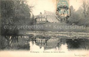 AK / Ansichtskarte Etrepagny Chateau de Saint Martin Etang Etrepagny