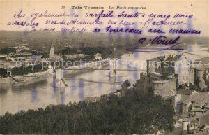 AK / Ansichtskarte Tain l_Hermitage Tournon Les Ponts suspendus Tain l Hermitage
