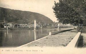 AK / Ansichtskarte Tain l_Hermitage Quai Scoly Pont vue sur Tournon Tain l Hermitage