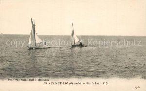 AK / Ansichtskarte Cazaux_La_Teste de Buch Segelboote Sur le Lac