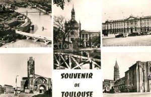 AK / Ansichtskarte Toulouse_Haute Garonne Fliegeraufnahme Garonne Donjon du Capitole Basilique Saint Sernin Toulouse Haute Garonne