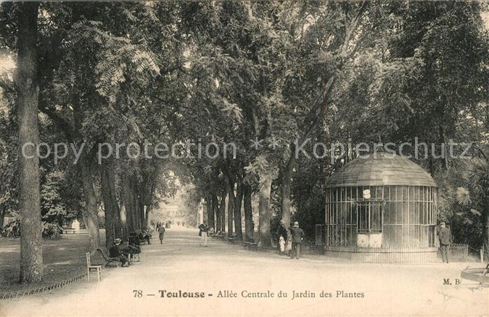 AK / Ansichtskarte Toulouse_Haute Garonne All?e Centrale du Jardin ...