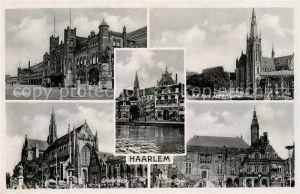 AK / Ansichtskarte Haarlem Station Kerk De Waag Stadhuis Haarlem