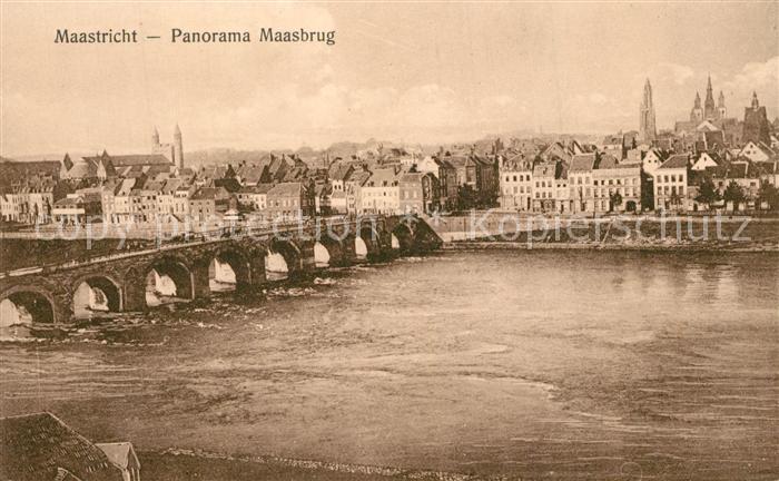 AK / Ansichtskarte Maastricht Panorama Maasbrug Maastricht
