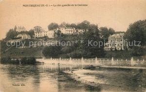 AK / Ansichtskarte Montrejeau_Haute Garonne Rive gauche de la Garonne Montrejeau Haute Garonne