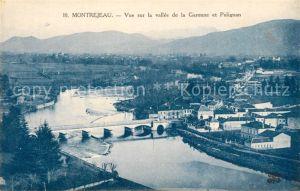 AK / Ansichtskarte Montrejeau_Haute Garonne Fliegeraufnahme Vallee de la Garonne et Polignan Montrejeau Haute Garonne
