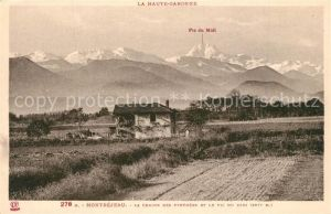 AK / Ansichtskarte Montrejeau_Haute Garonne Chaine des Pyren?es et Pic du Midi Montrejeau Haute Garonne