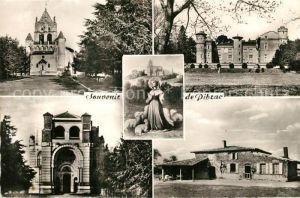 AK / Ansichtskarte Pibrac Eglise Chateau Basilique Maison natale de Sainte Germaine Pibrac