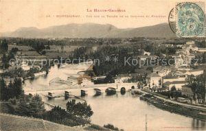 AK / Ansichtskarte Montrejeau_Haute Garonne Valle de la Garonne et Polignan Montrejeau Haute Garonne