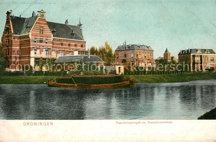 AK / Ansichtskarte Groningen Praediniussingel en Diaconessenhuis Groningen