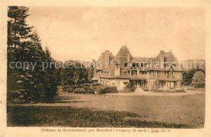 AK / Ansichtskarte Montfort l_Amaury Chateau de Gambaiseuil Montfort l Amaury