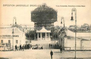 AK / Ansichtskarte Bruxelles_Bruessel Exposition Universelle 1910 Vues d'ensemble Attractions et Arbre Geant Bruxelles_Bruessel
