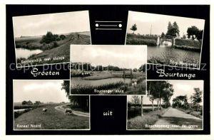 AK / Ansichtskarte Bourtange Soldatendijk Sluisje Brug Kanaal Bisschopsweg Bourtange