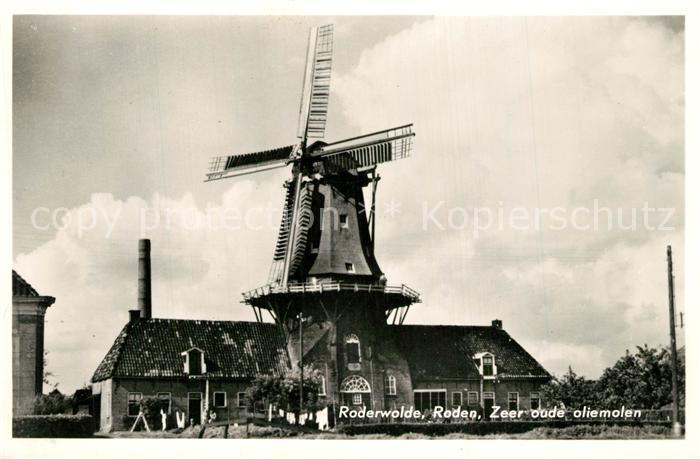 AK / Ansichtskarte Roden_Netherlands Zeer oude olieolen Windmuehle Roden_Netherlands