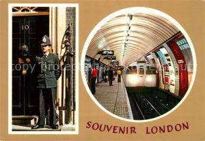AK / Ansichtskarte Polizei Downing Street U Bahn Oxford Circus Underground Station Victoria Line London