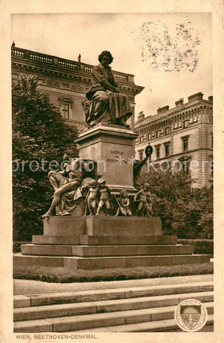 AK / Ansichtskarte Beethoven Denkmal Wien