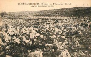 AK / Ansichtskarte Toulx Sainte Croix Oppidum detruit Germains en 354 Toulx Sainte Croix