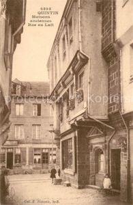 AK / Ansichtskarte Quintin Maisons anciennes Rue au Lait Quintin