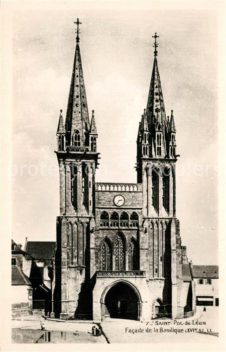 AK / Ansichtskarte Saint Pol de Leon Basilique Saint Pol de Leon