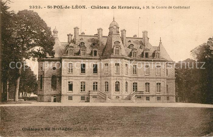 AK / Ansichtskarte Saint Pol de Leon Chateau de Kernevez Saint Pol de Leon