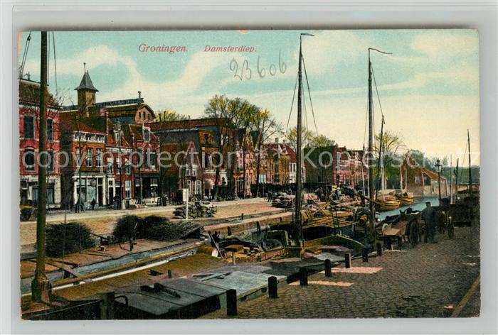 AK / Ansichtskarte Groningen Damsterdiep Kanal Groningen