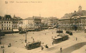 AK / Ansichtskarte Liege_Luettich Place Saint Lambert et Palais de Justice Liege Luettich