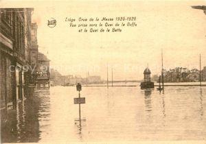 AK / Ansichtskarte Liege_Luettich Crue de la Meuse Vue prise vers le Quai de la Goffe et le Quai de la Batte Liege Luettich