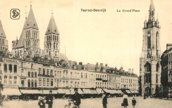 AK / Ansichtskarte Tournai La Grande Place Tournai