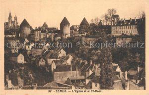 AK / Ansichtskarte Semur en Auxois Chateau Eglise  Semur en Auxois